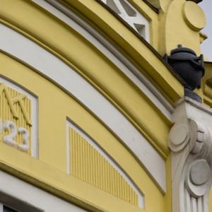 Detail na vile architekta Milana Kubeše v Třebíči