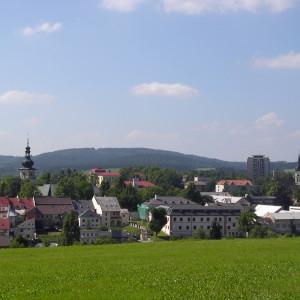 Pohled na Nové Město na Moravě