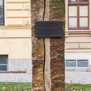Pomník z mrákotínské žuly v Jihlavě