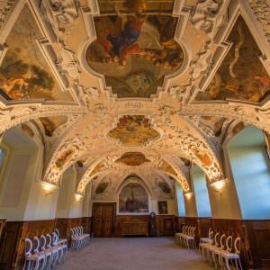 Interiér kláštera Želiv