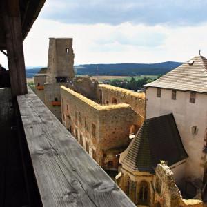 Výhled z hradu Lipnice nad Sázavou