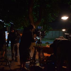 Natáčení filmu Bajkeři na Panském dvoře Telč