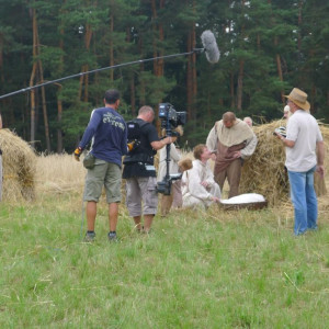Natáčení filmu Jan Hus v lokalitě u Třebíče