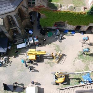 Natáčení filmu Jan Hus na hradě Lipnice nad Sázavou