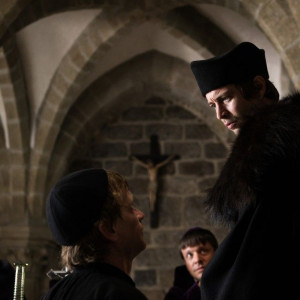 Natáčení filmu Jan Hus v bazilice sv. Prokopa v Třebíči