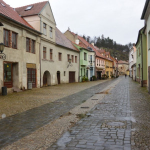 Natáčení filmu Zádušní oběť v židovské čtvrti v Třebíči