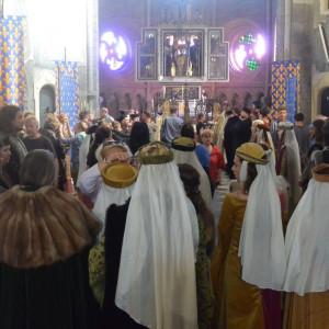 Natáčení filmu Hlas pro římského krále v bazilice sv. Prokopa v Třebíči